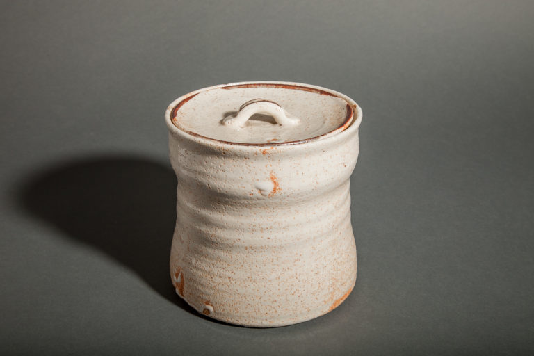 Japanese Shino-ware Mizusashi (Water Container)