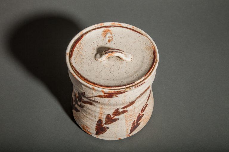 Japanese Shino-ware Mizusashi (Water Container)