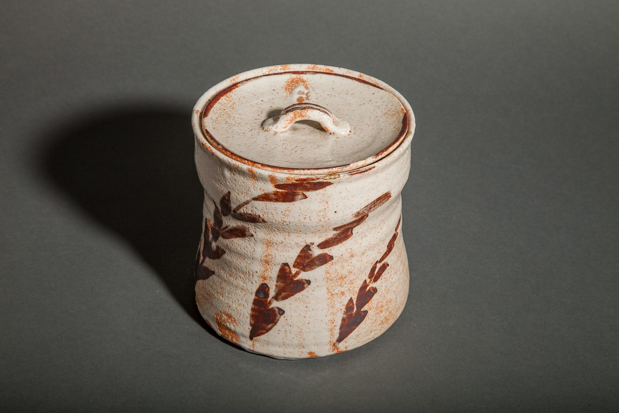 Japanese Shino Ware Mizusashi (Water Container)
