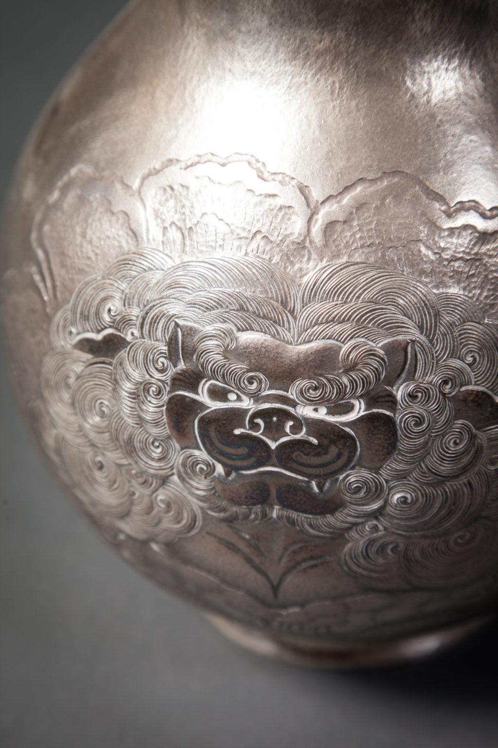 Japanese Silver Flower Vase