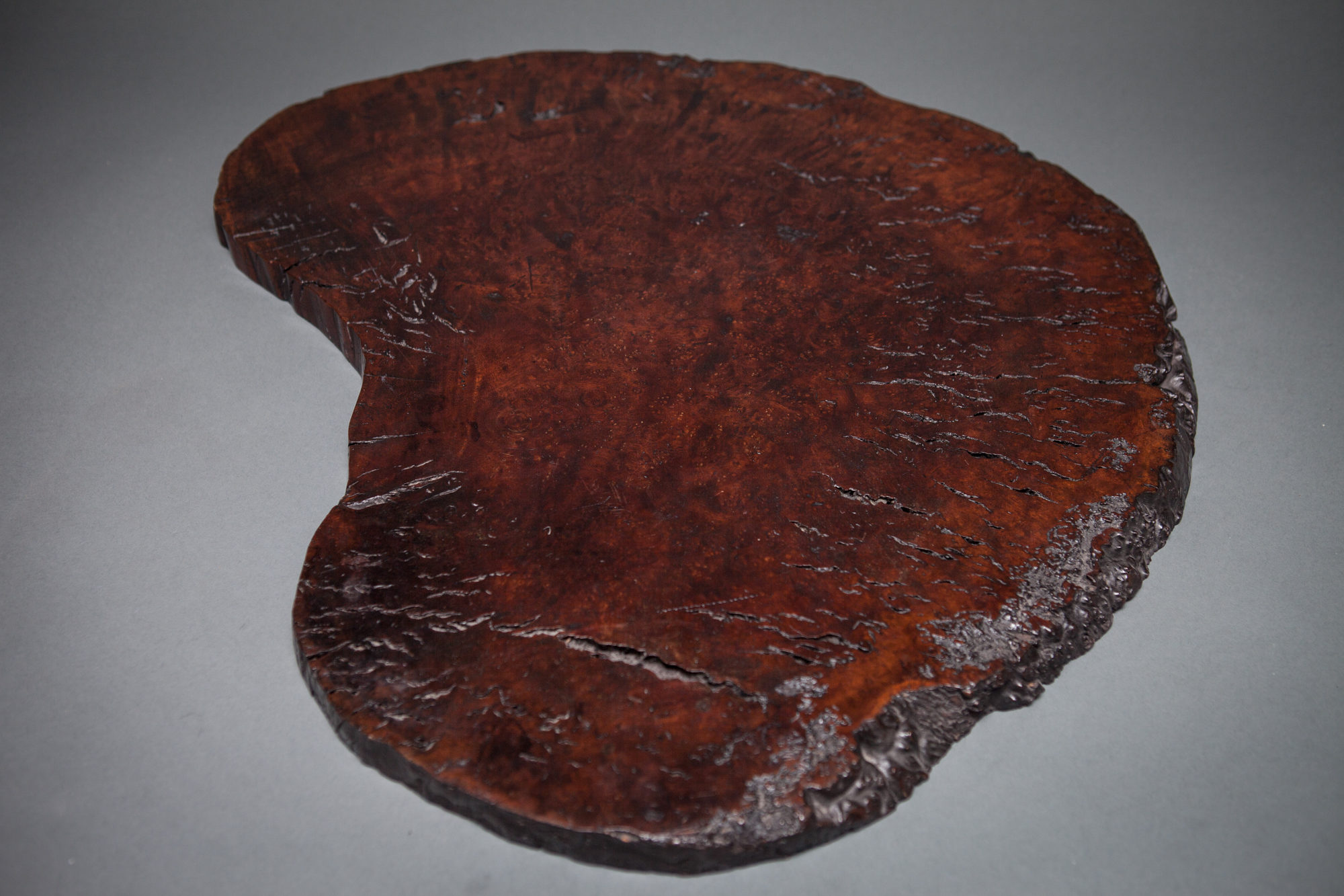 Japanese Sliced Burl Wood, Natural Shaped Tray