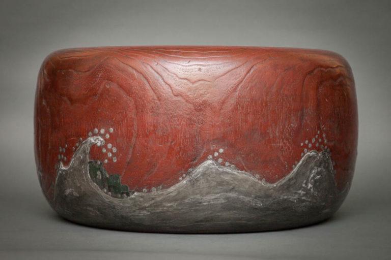 Japanese Sugi Wood Round Hibachi