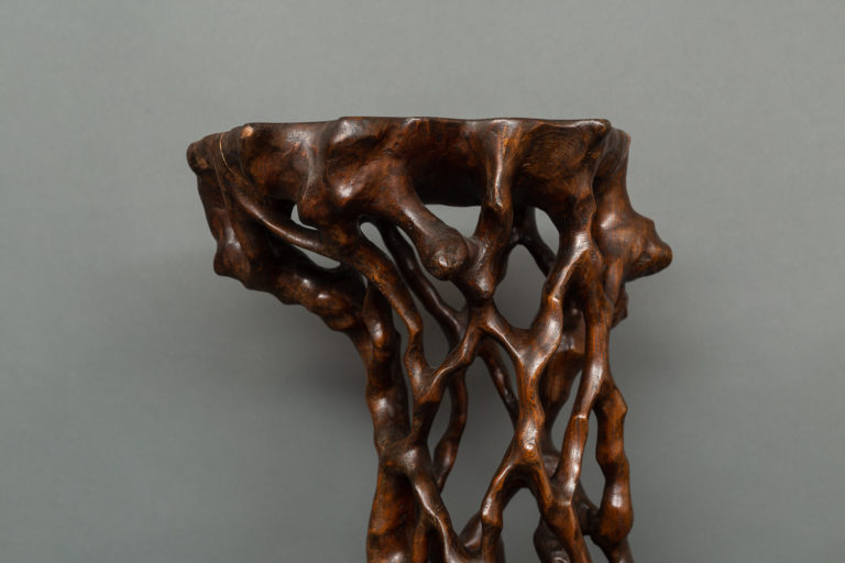 Japanese Two-Tier Root Stand for Flower Arrangements