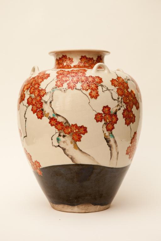 Large Japanese Studio Vase by Makuzu Kozan