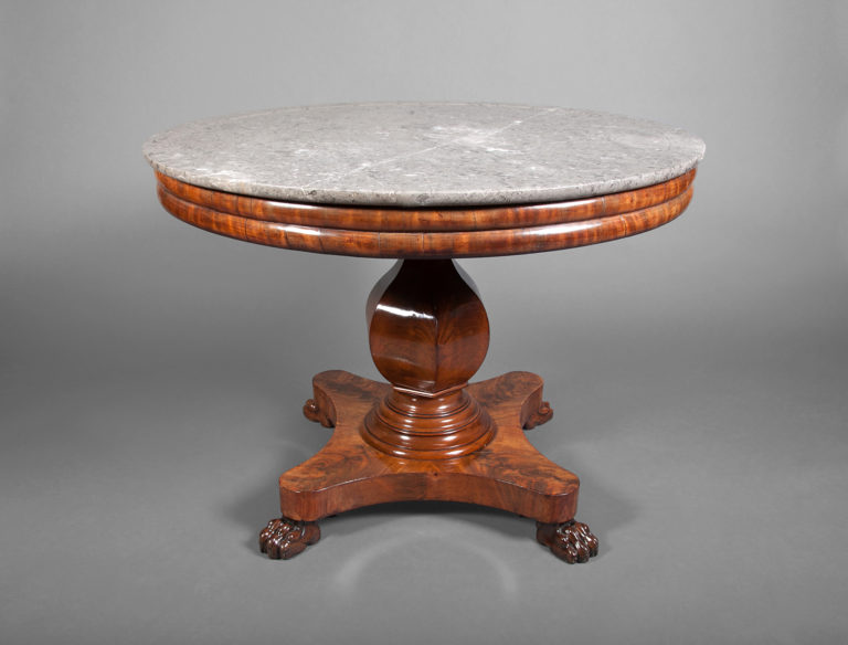 Louis Philippe Marble Top Center Table