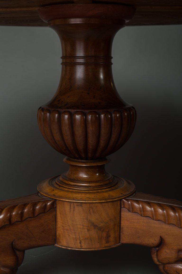 Louis Philippe, Bleached Mohogany Center Hall Table
