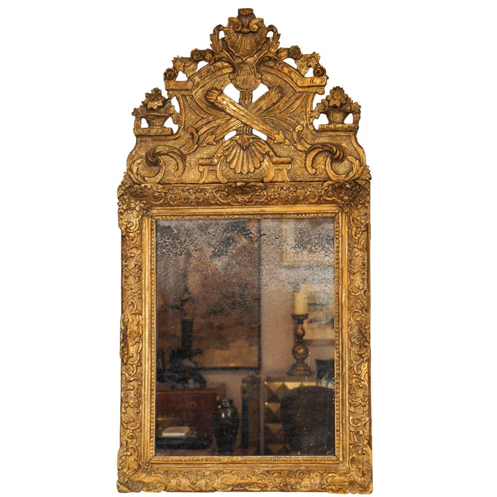 French 17th Century Louis XlV Giltwood Mirror