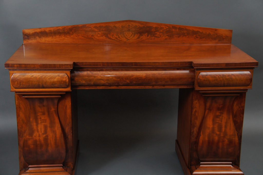 Mahogany William IV English Double Pedestal Sideboard