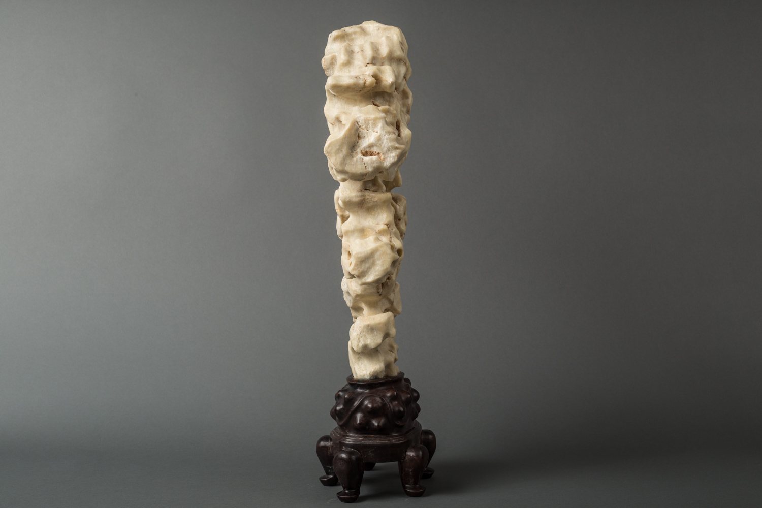 Ming Dynasty Chinese White Perforated Scholar's Rock