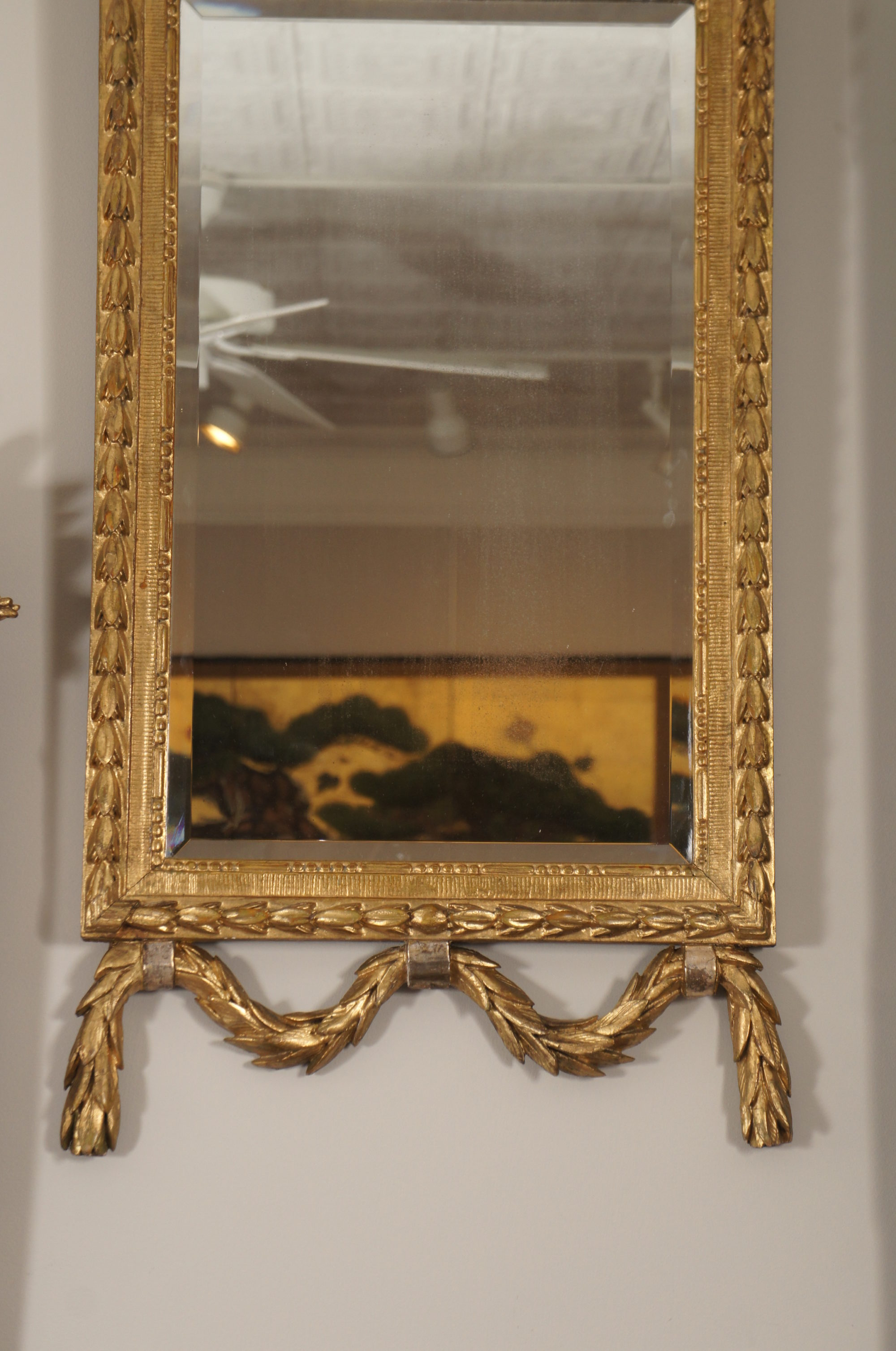 Pair of 19th Century Italian Carved Giltwood Mirrors
