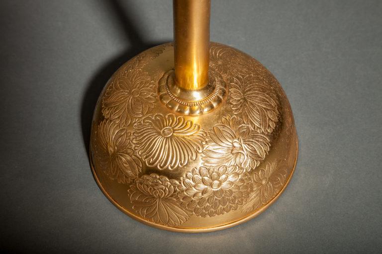 Pair of Antique Gilded Bronze Candlesticks