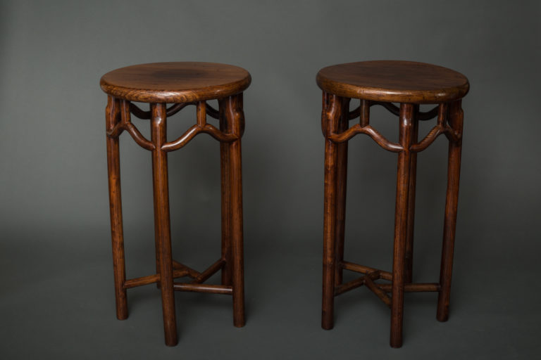 Pair of Elmwood Stands