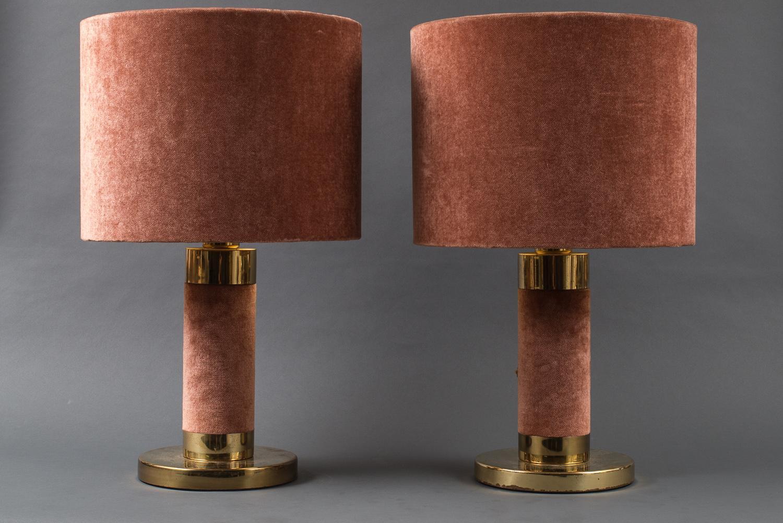 Pair of Fabric Lamps