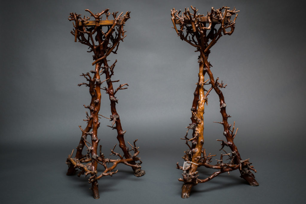 Pair of French Branch Pedestals