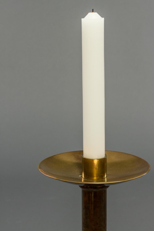 Pair of French Brass Altar Sticks