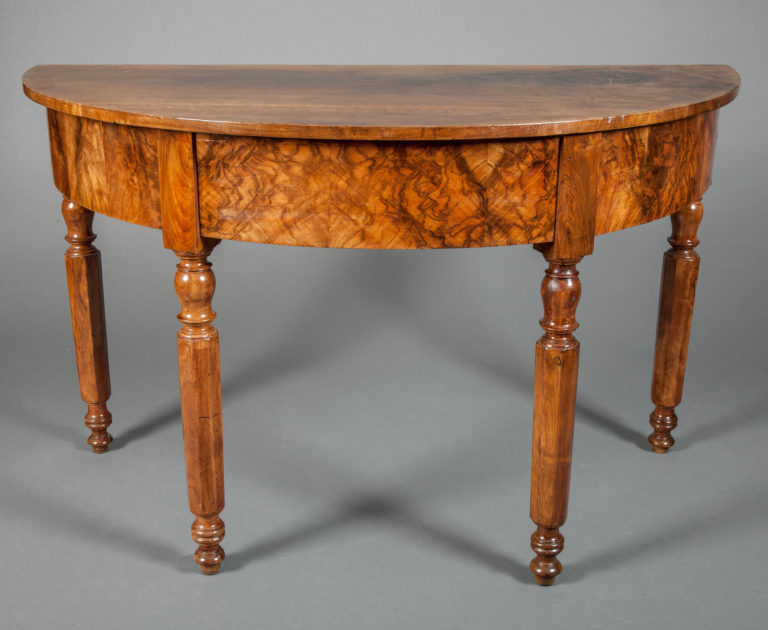 Pair of French Demi- Lune Tables