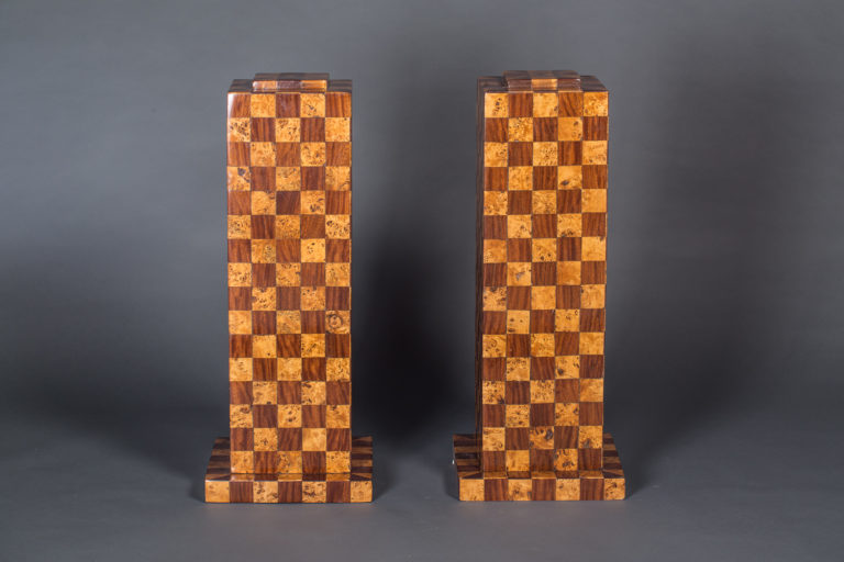 Pair of Italian Checker Pedestals