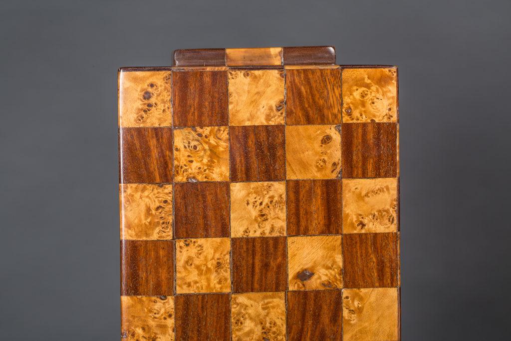 Pair of Italian Checker Pedestals