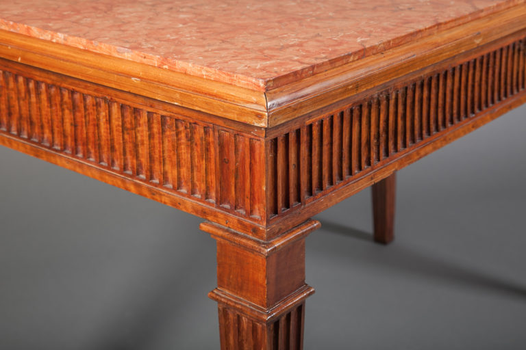 Pair of Italian Console Tables with Marble Inset Top