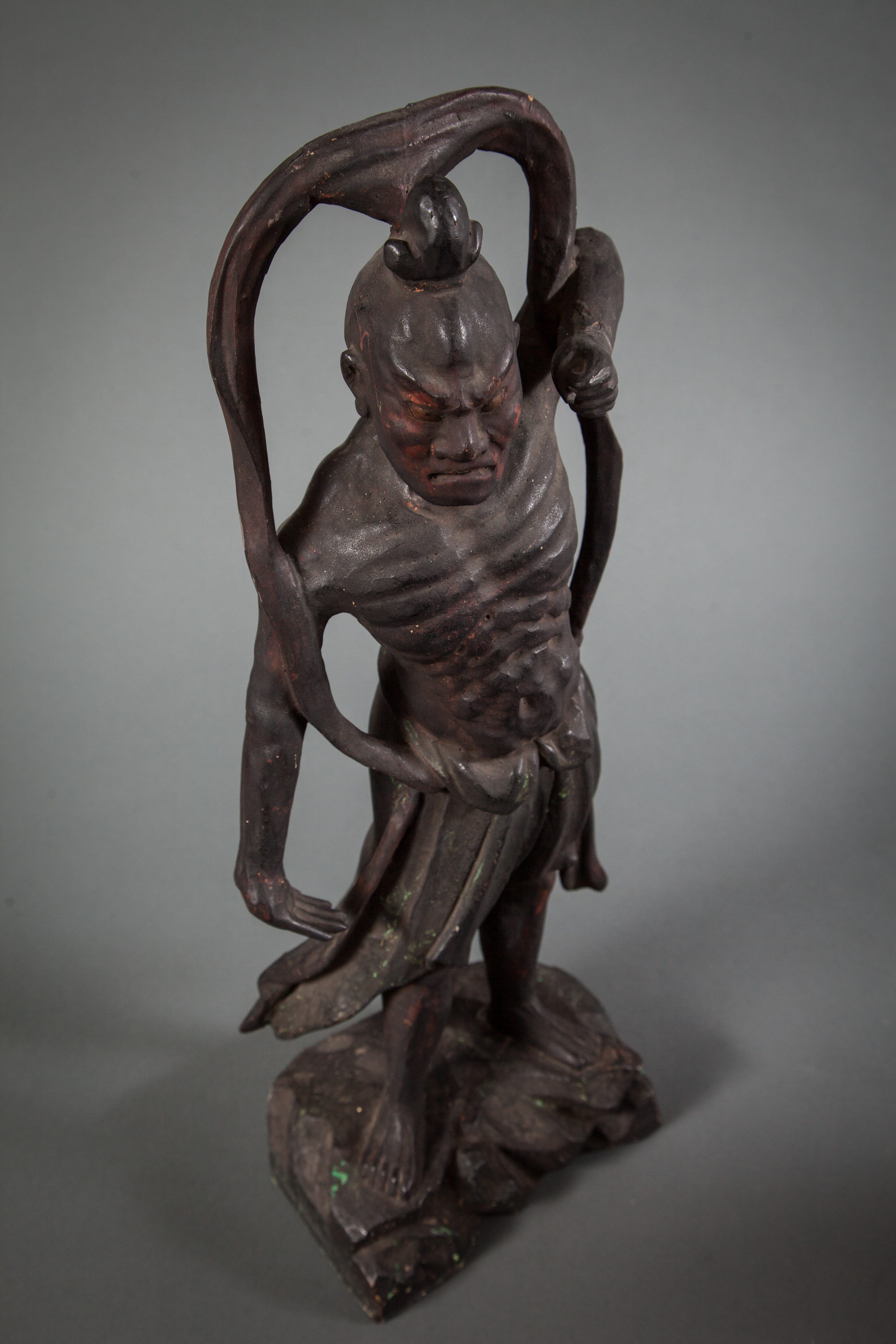 Pair of Japanese Buddhist Guardian Figures