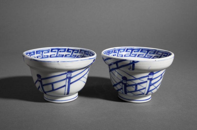 Pair of Japanese Imari Bowls