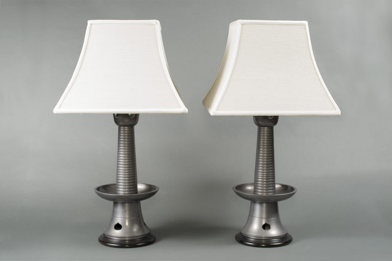 Pair of Japanese Mid-Century Lamps