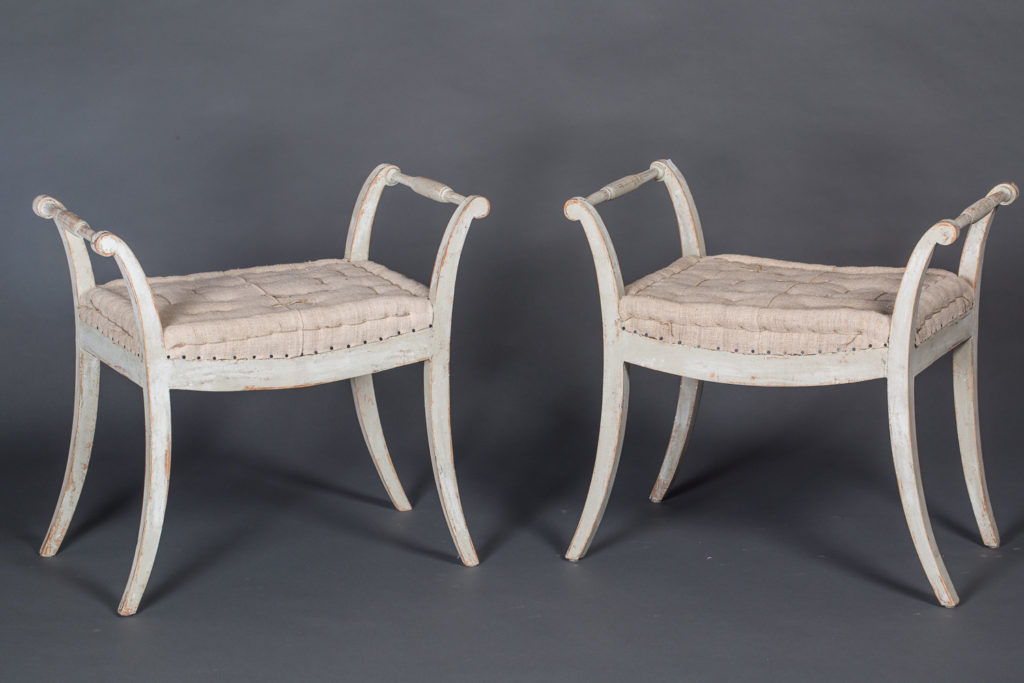 Pair of Karl Johann Stools