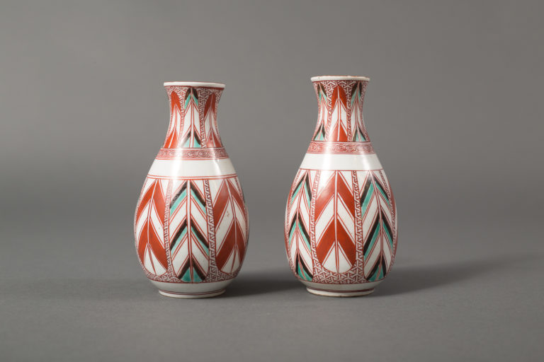 Pair of Kutani Ware Tokuri (Sake Containers)