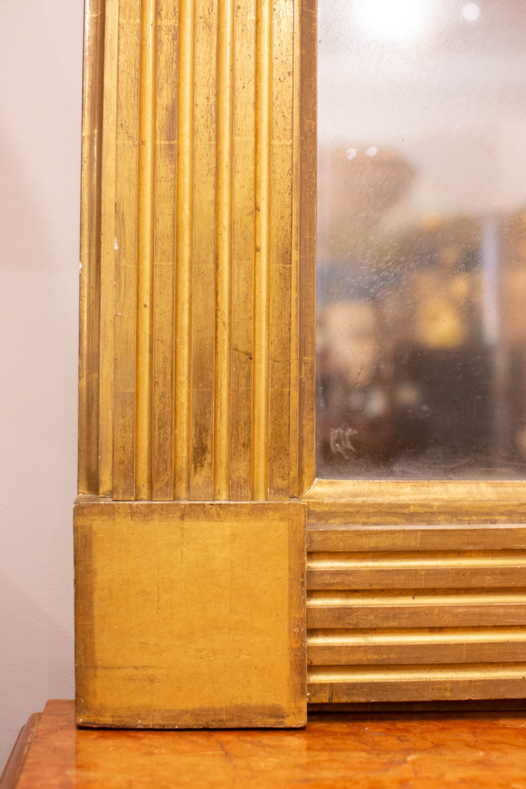 Pair of Large Gilt American Federalist Mirrors