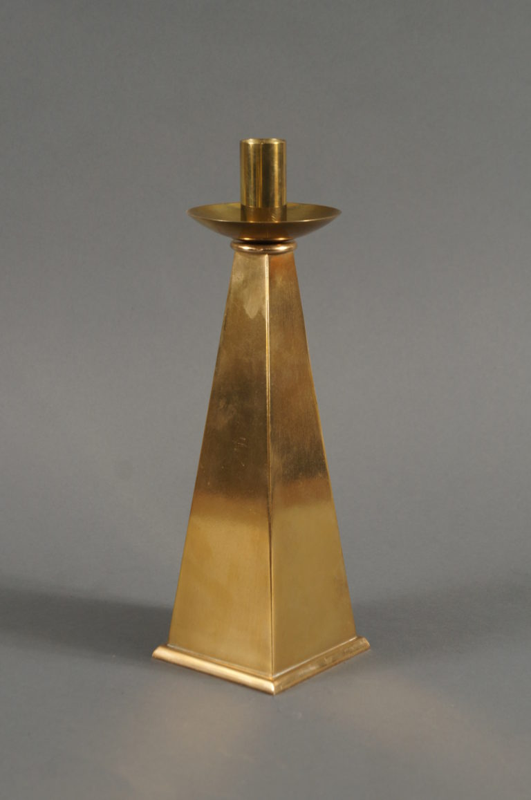 Pair of Mid Century Brass Candlesticks