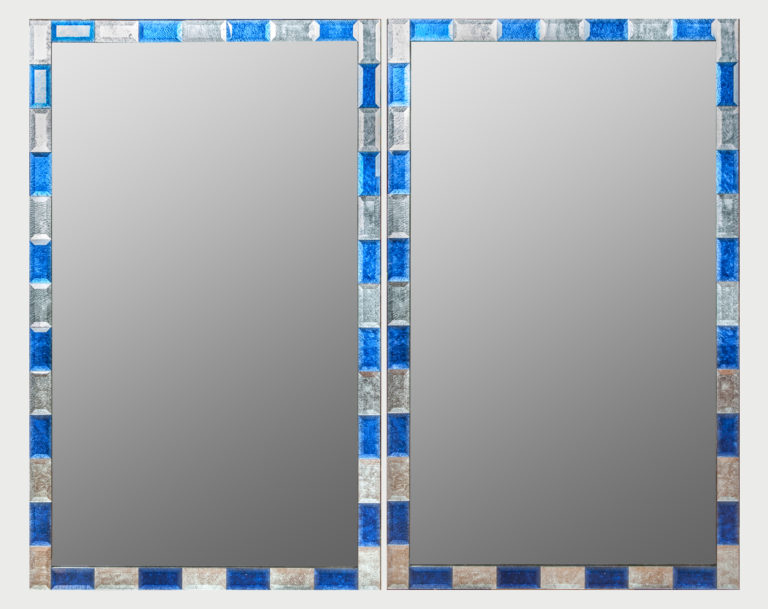 Pair of Modern Italian Deco Style Mirrors