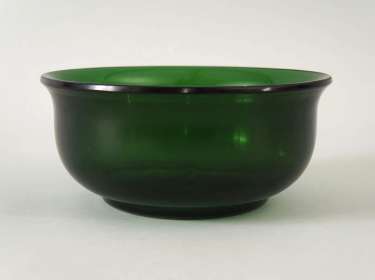 Pair of Piking Green Glass Bowls