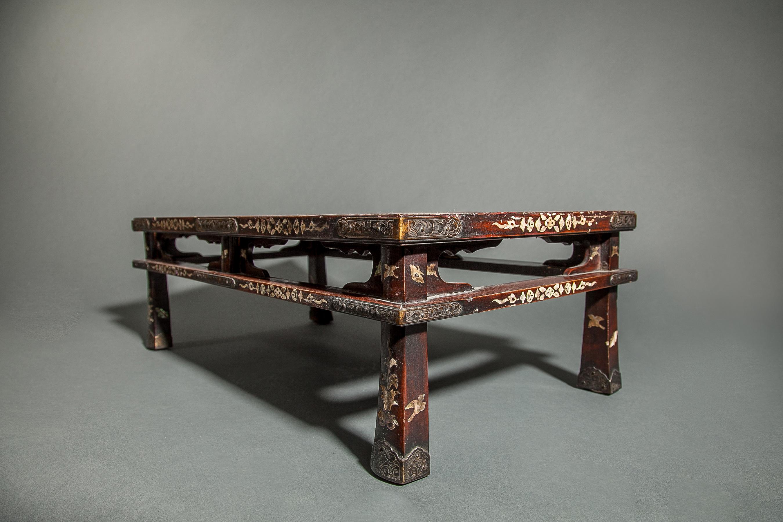Persimmon Lacquer Table (Presentation Stand)