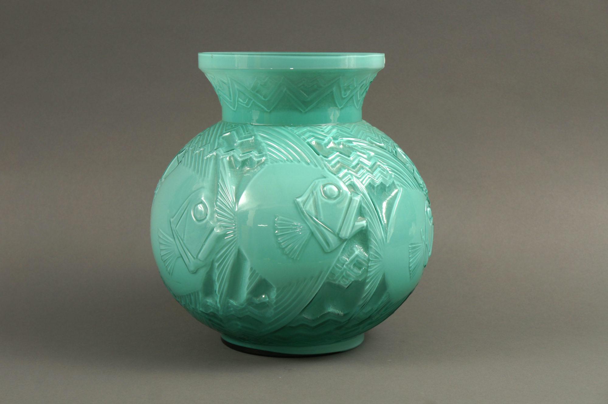 Pierre D'avesive Blue Deco Vase