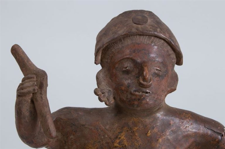 Pre-Columbian (before 1492) Proto-Classical (50 BC – 250 AD) Pottery Standing Male Figure