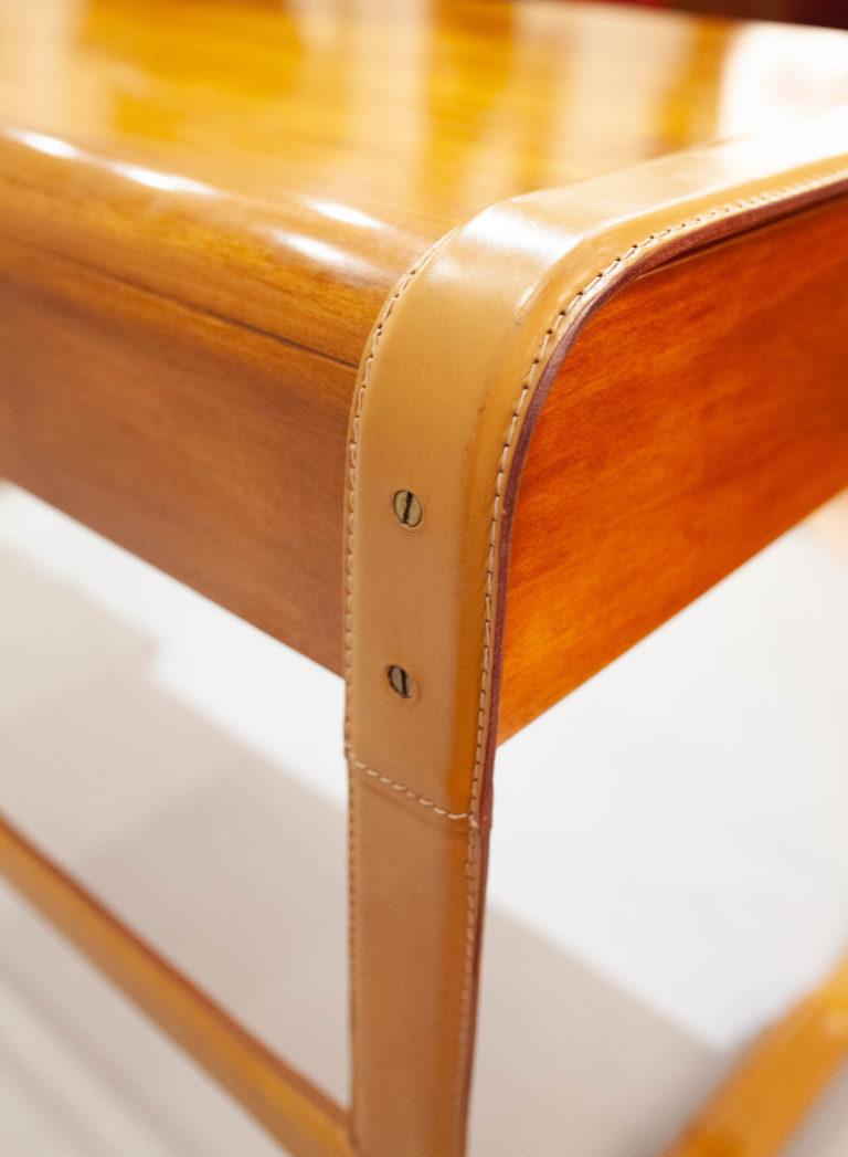 Ralph Lauren Leather and Wood Desk