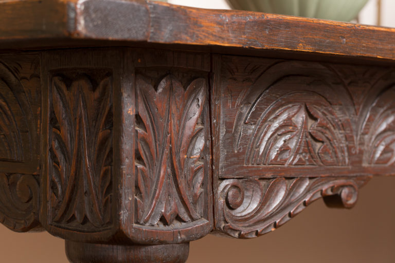 Scottish Library Table with Barley Twist Legs