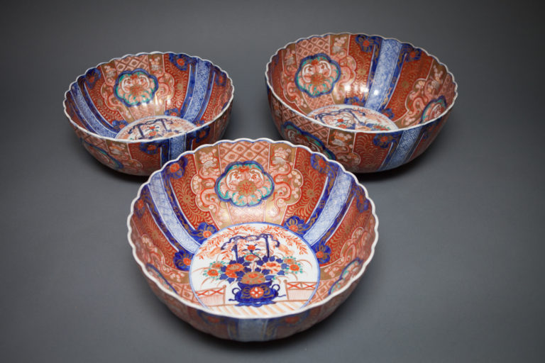 Set of Three Imari Nesting Bowls