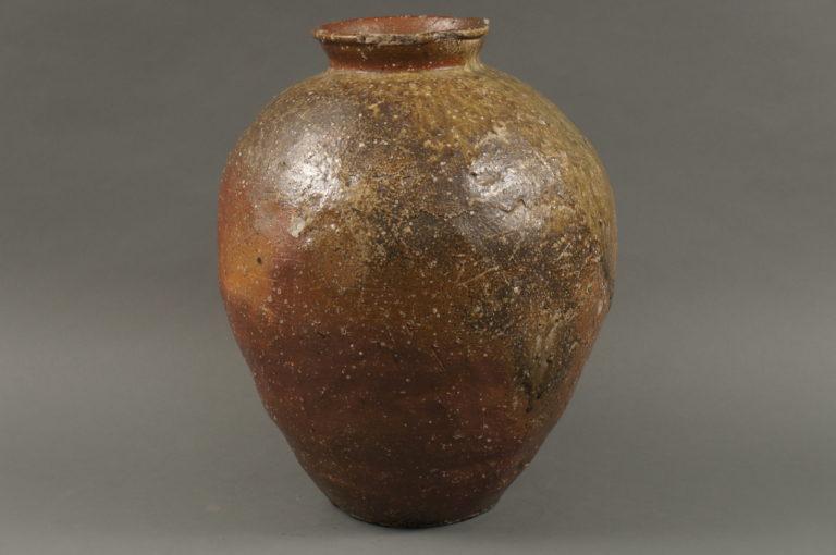 Shigaraki Glazed Stoneware Vase