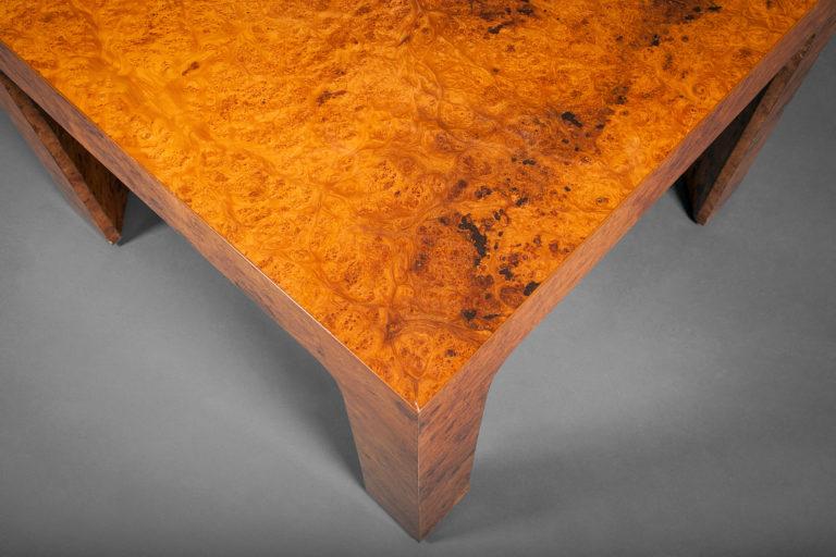 Singel Burl Wood Side Table