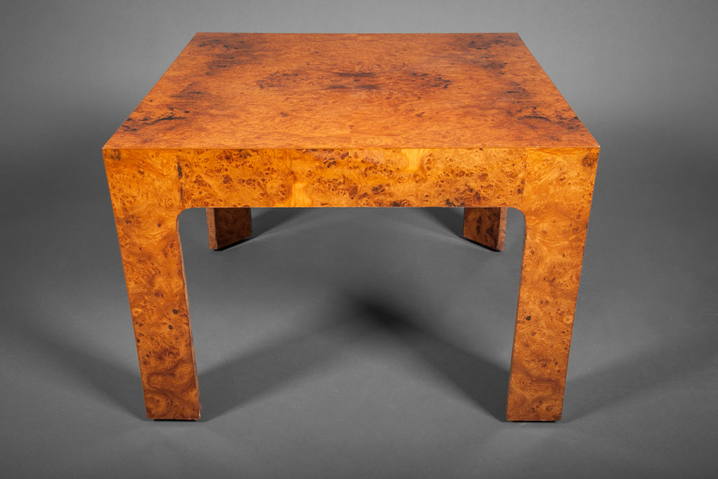 Single Burl Wood Side Table