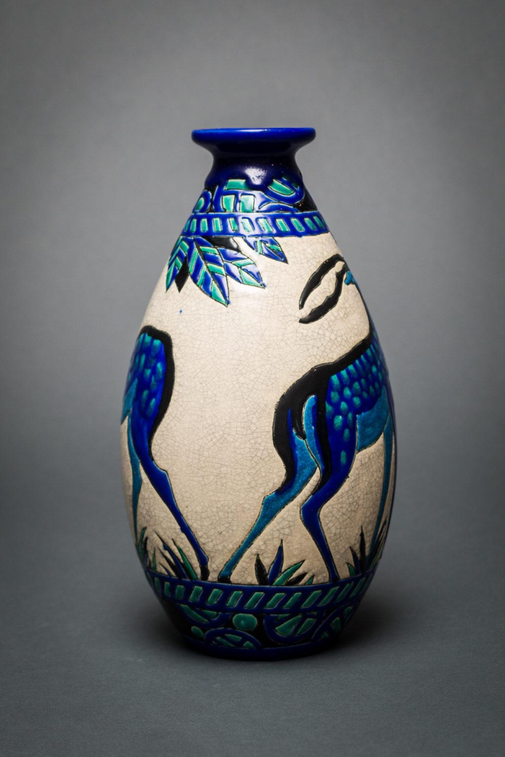 Keramis Vase with Deer