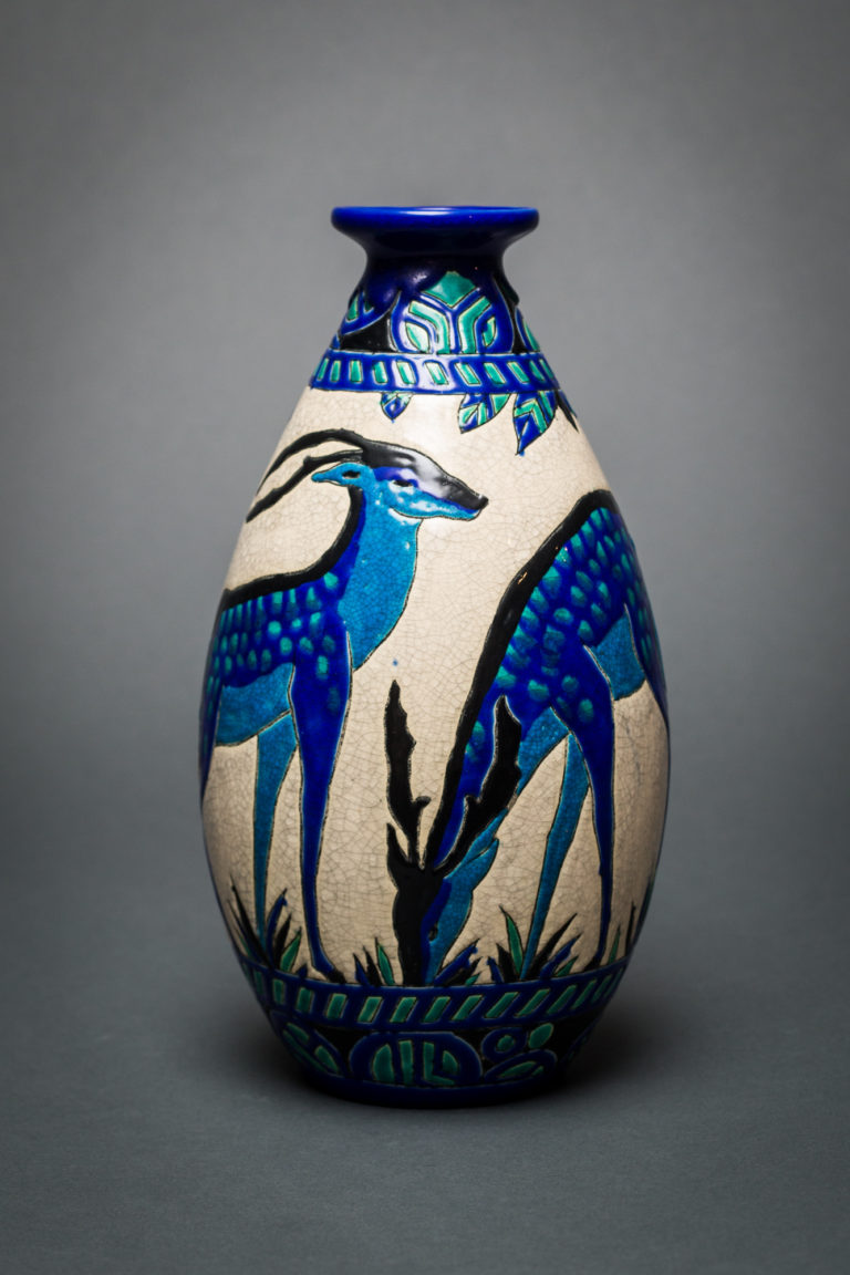 Keramis Vase with Deer