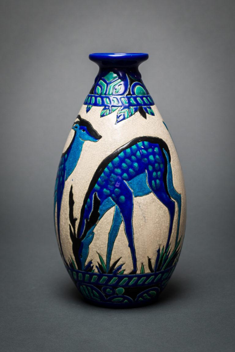 Single Keramis Vase with Deer