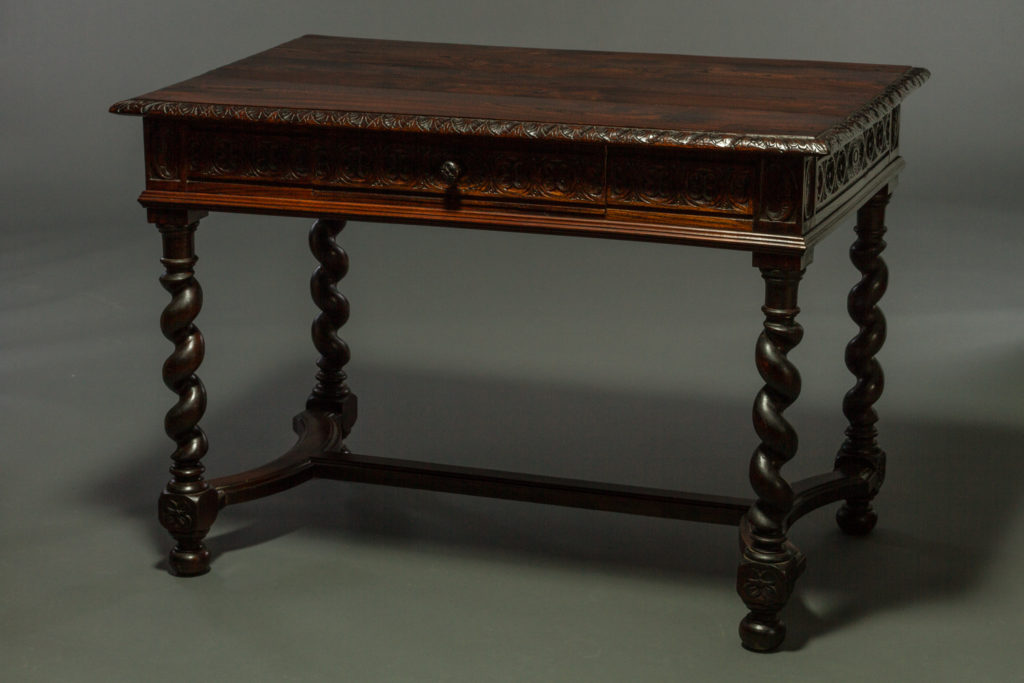 Stand Alone English Desk with Barley Twist Legs