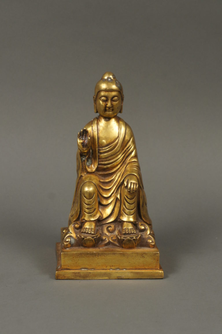 Tibetan 19th Century Gilded Bronze Buddha