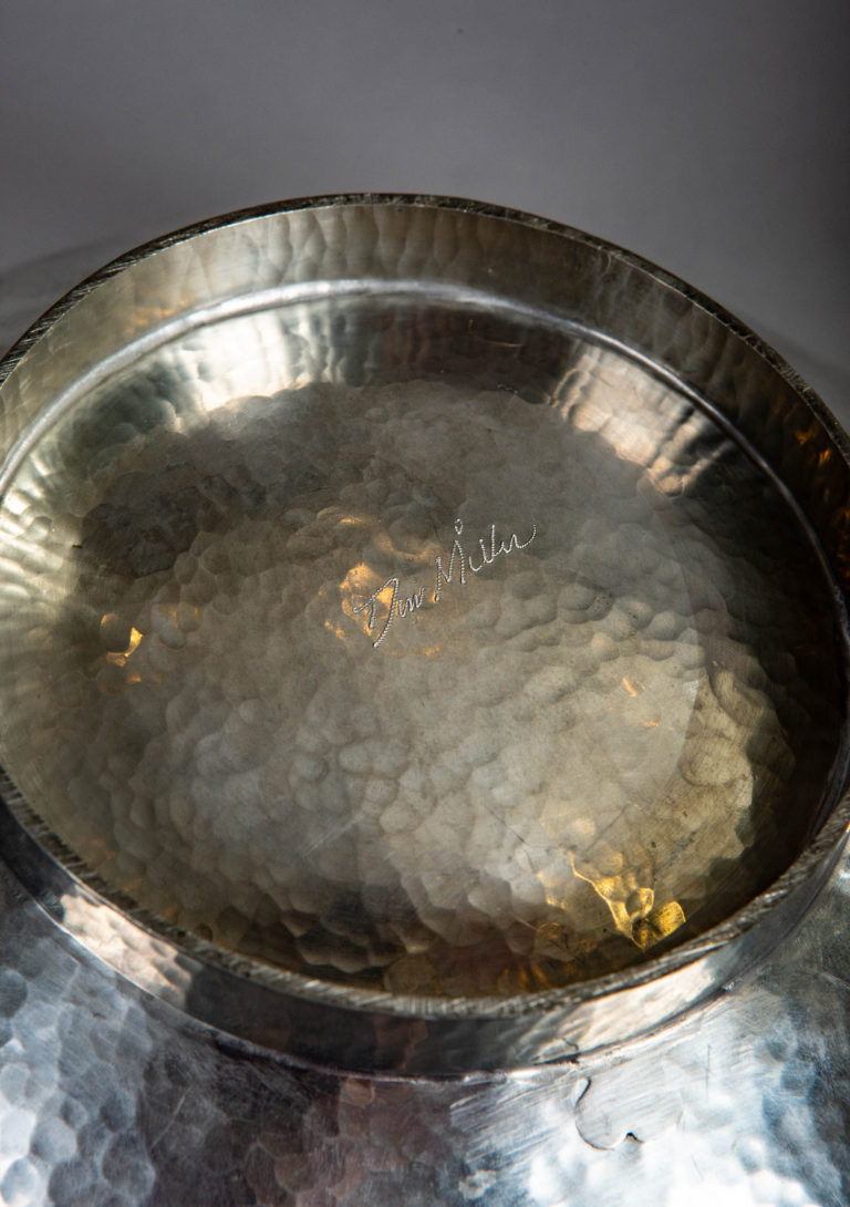 Unusually Shaped Pewter Bowl