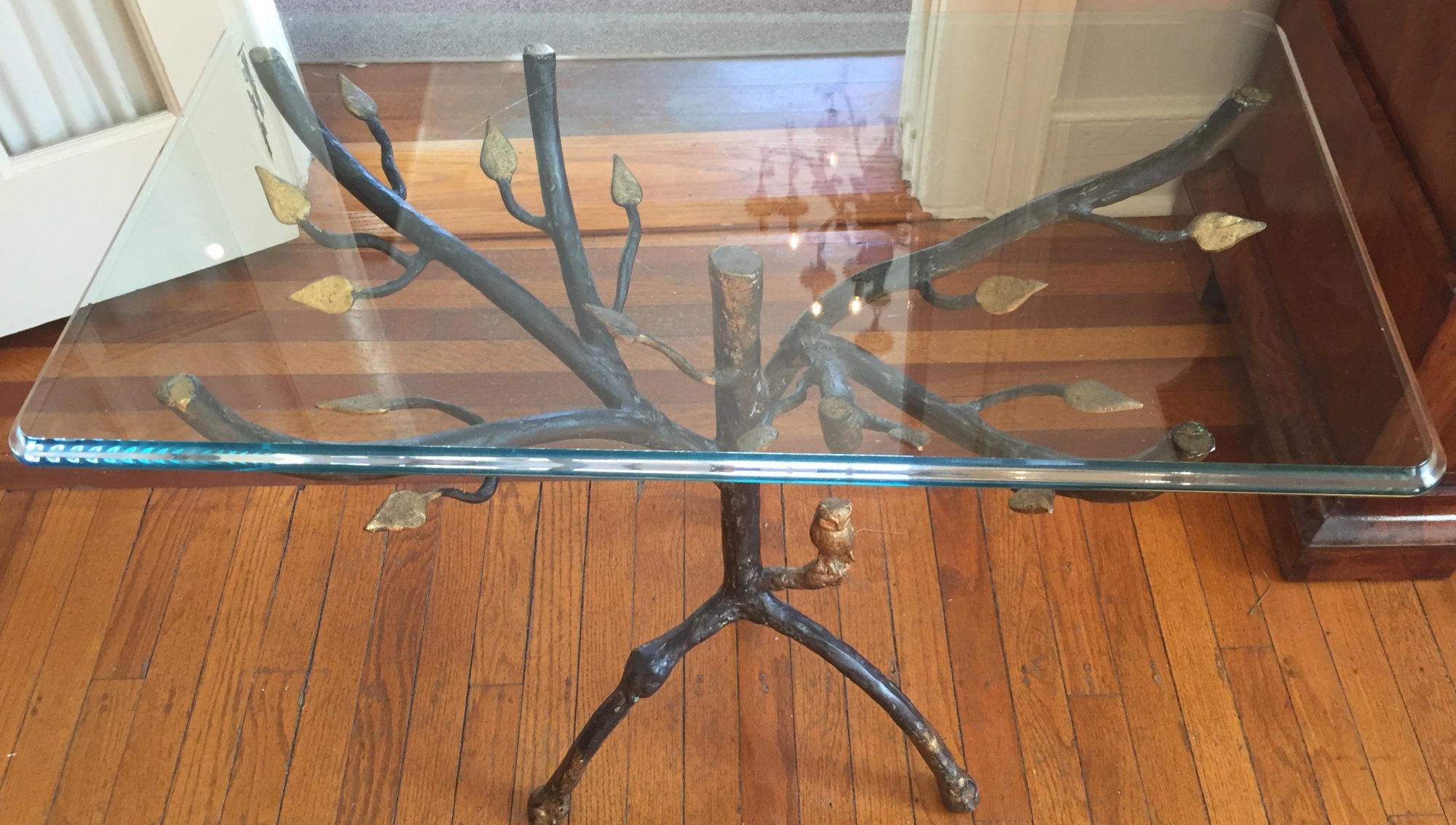 Vintage Faux Iron Side Table