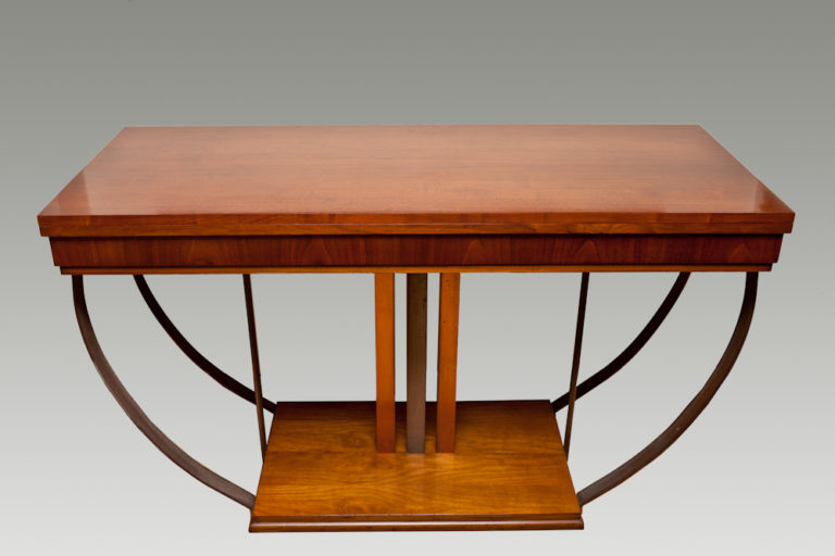 Walnut French Art Deco Extendable Dining Table