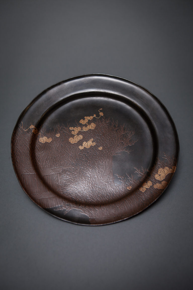 Zeshin Style Lacquer Plate